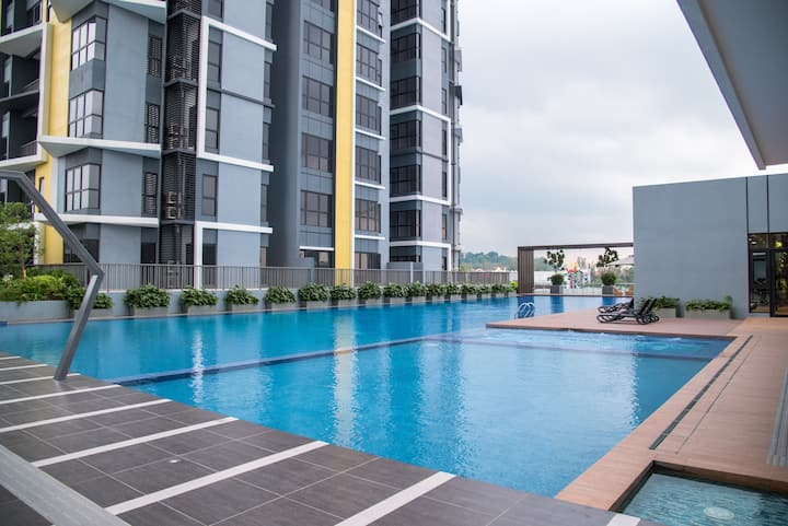 (New)Bliss Home Puchong/3BDR/8PAX/SUBANG-K.L♡ 幸福之家