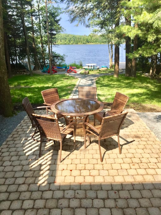 Another dining set on the patio looking out to the lake. So relaxing...