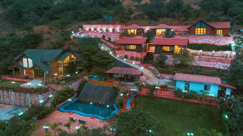 8bhk Vibhati Resort  for Large group And Events.