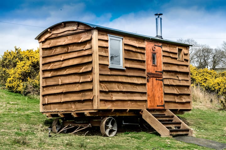 LUXURY SHEPHERDS HUT ON FARM with amazing views