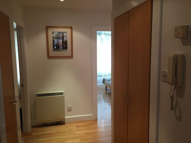 Spacious hallways to bedrooms and bathroom.