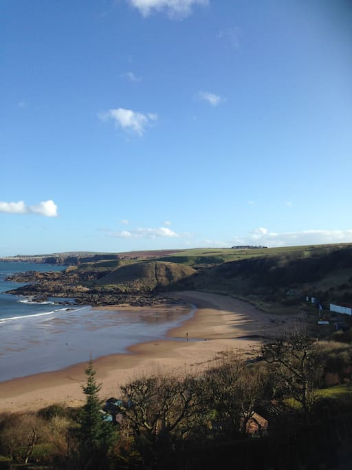 Coldingham Sands - sits metres from the cottage.