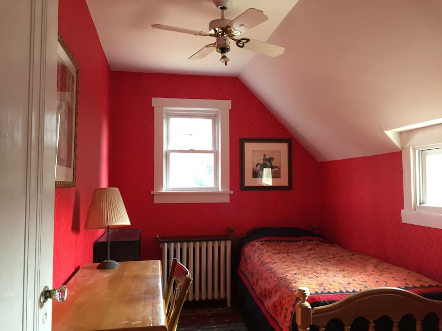 Charming and comfortable room with desk & closet.