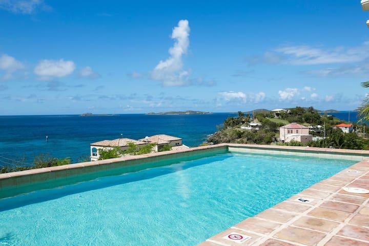 Blue View at Mango Terrace-5 min walk to Cruz Bay!