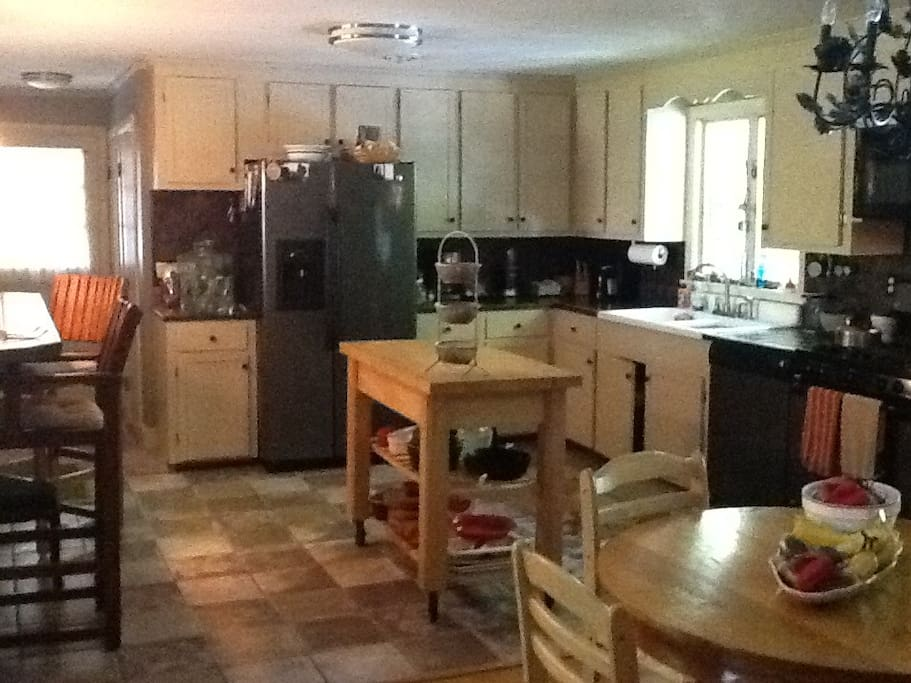 Full use of my family friendly kitchen.
