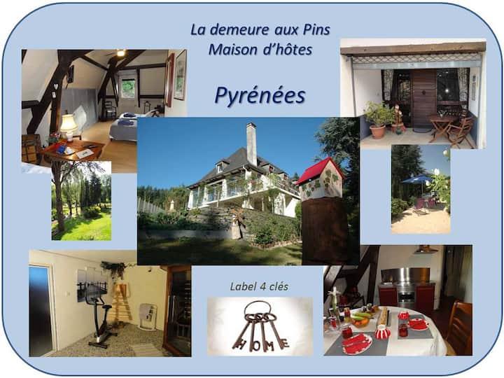 La demeure aux Pins à LOURDES - label 4 clés