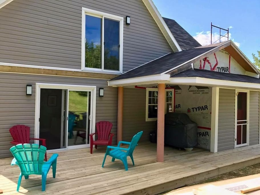 Back deck and BBQ