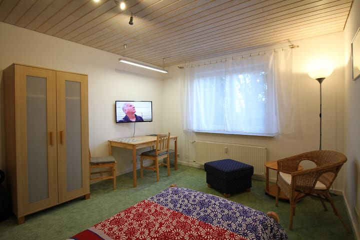 Nähe Messe /1-Pers.  Apartment am ruhigen Ortsrand