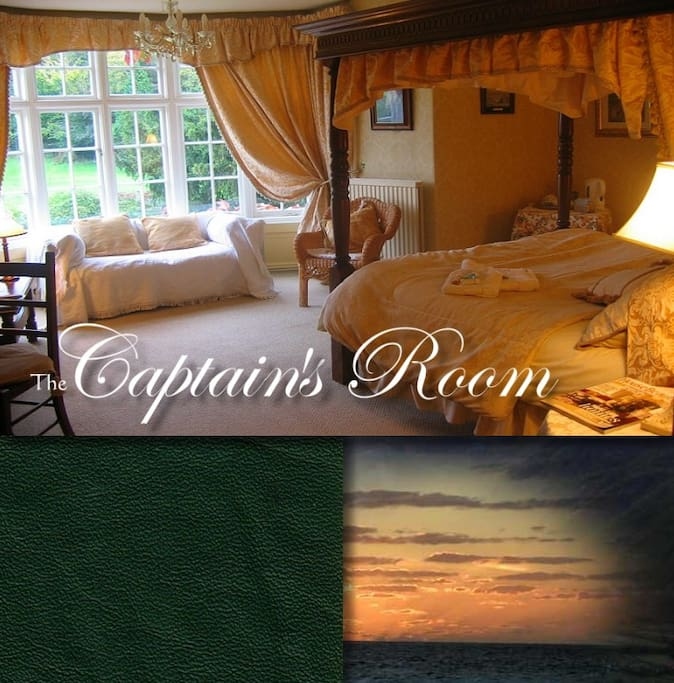 Captains Four poster with en suite shower room and lovely garden views