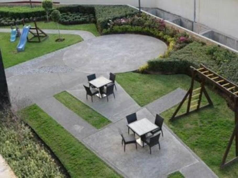 Jardín en áreas comunes