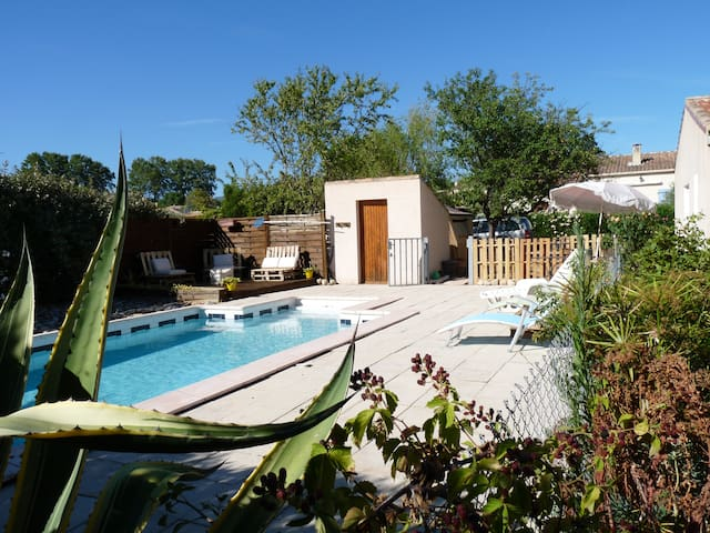 Logement entier piscine parking securise - Saint-Félix-de-Lodez - Rumah