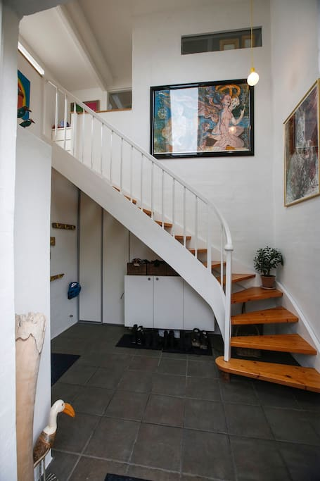 The Hall where you enter the house - turn left into the kitchen and the stair to the first floor