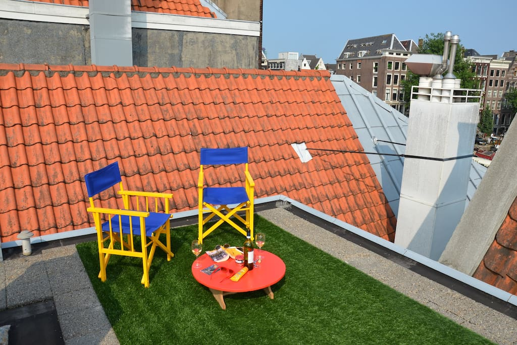 Private to guests rooftop terrace