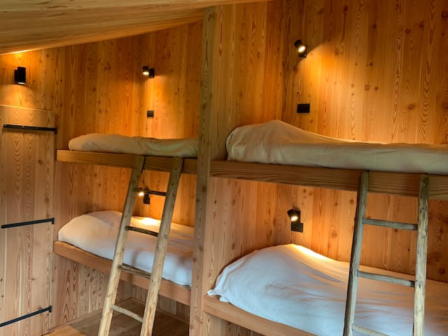 Second bedroom with 4 bunk beds