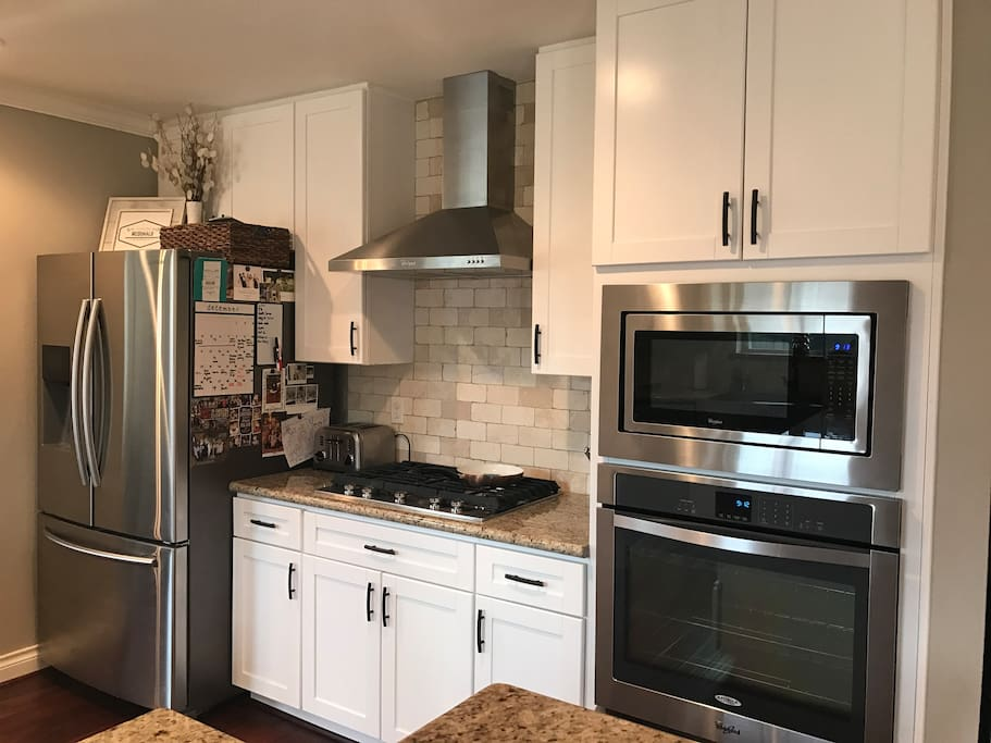 Beautiful kitchen with all stainless appliances