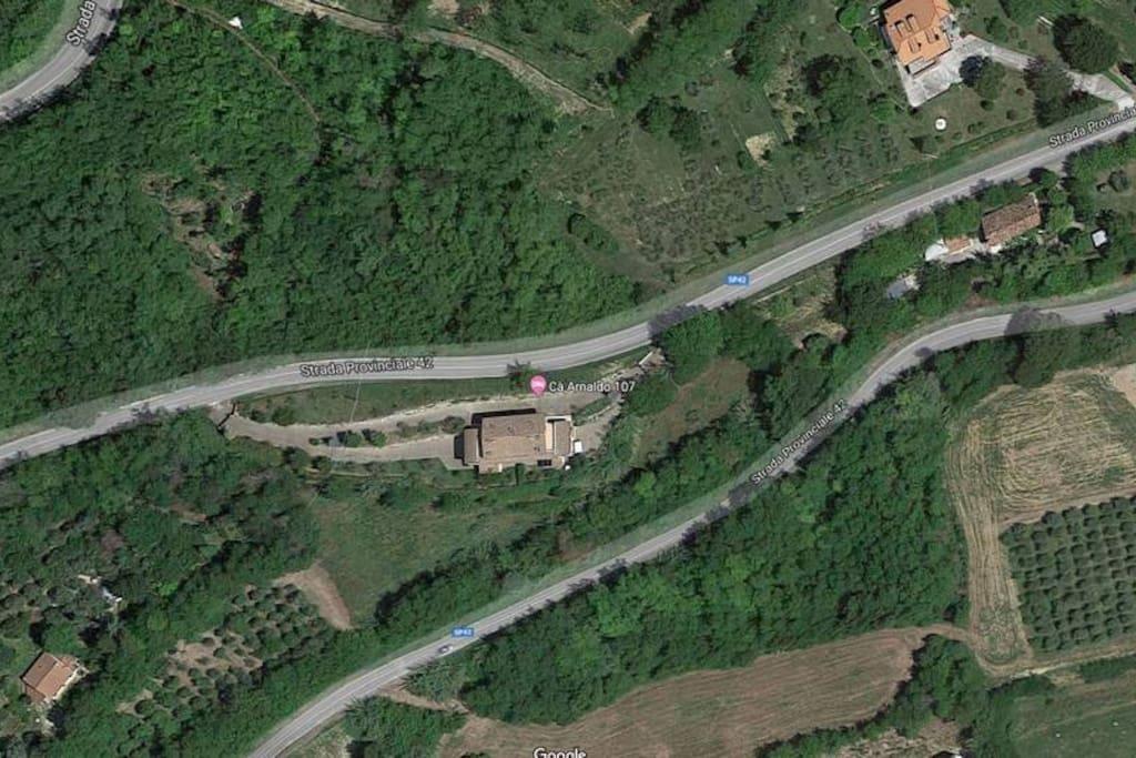 Vista aerea Cà Arnaldo 107