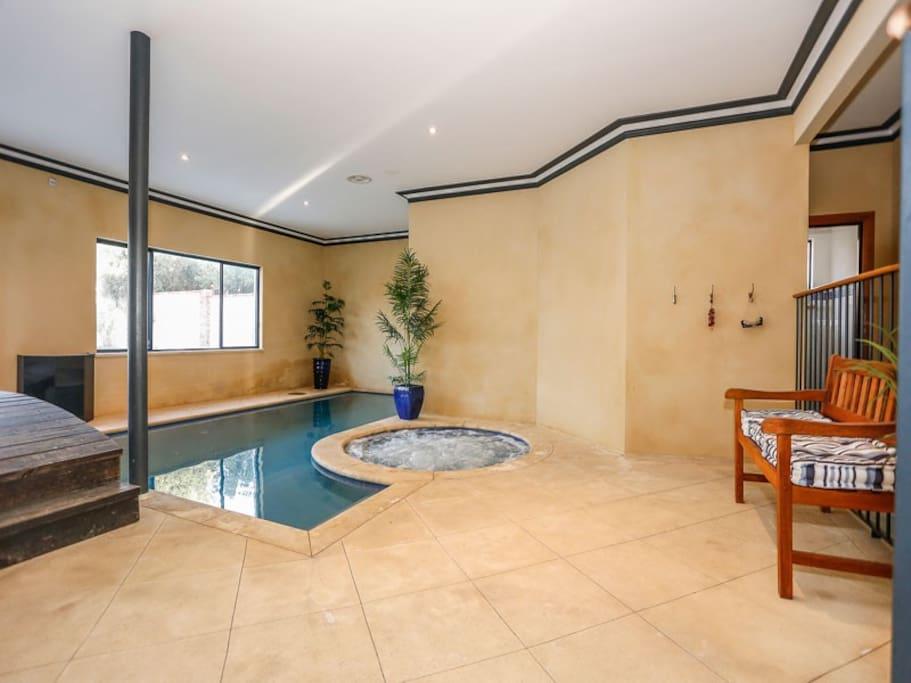 Heated spa
