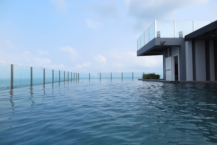 View from the Roof Top Swimming Pool