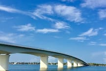 Ringling bridge on way to Lido Beach