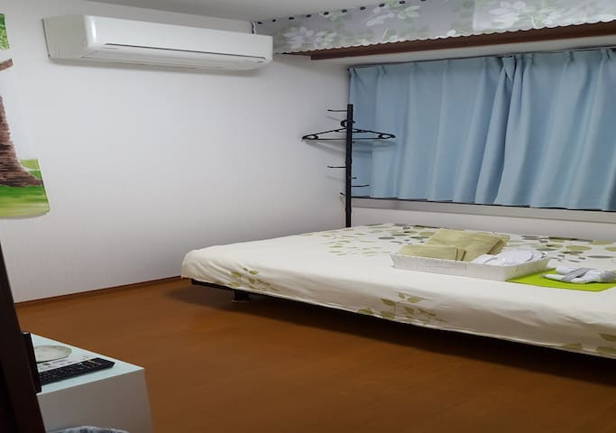 No.201  Max 2 people Semi double bed  120cm x 200cm