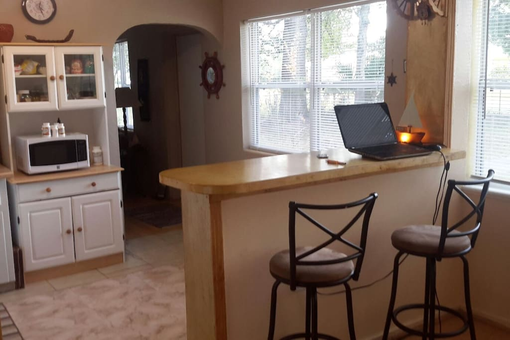 Kitchen Area with counter