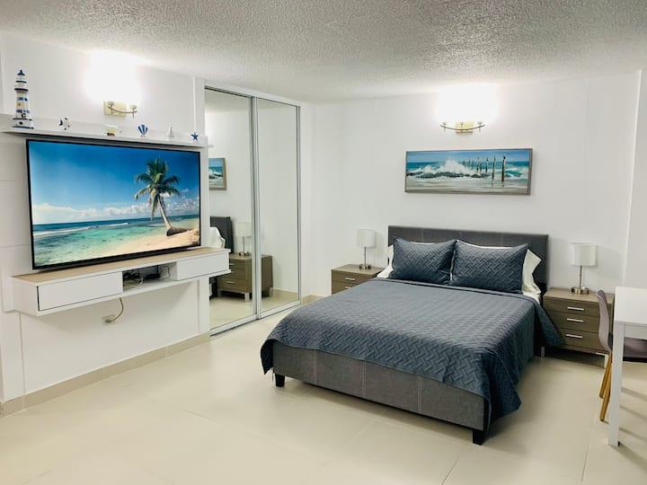Charming apartment with ocean/beach view@St.Tropez