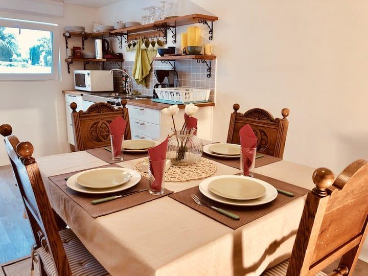 Lägenhet i källarplan  i centrala  Falkenberg ....