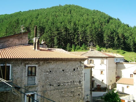 House with 2 bedrooms in San Sebastiano, with wonderful mountain view, furnished terrace and WiFi - 17 km from the slopes