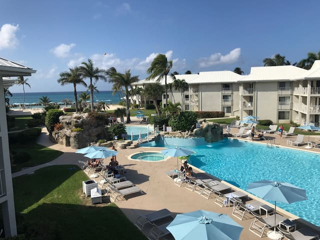 Just steps from Seven Mile Beach (photo taken from your balcony)