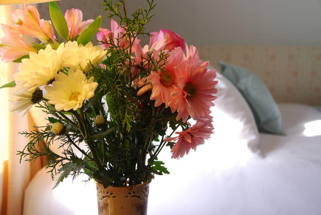 Enjoy seasonal flowers from Diane's perennial gardens