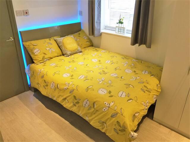 Beautiful Back-Lit bed