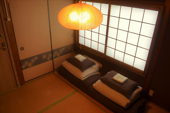 Twin Room in a Japanese House by Tennoji Downtown
