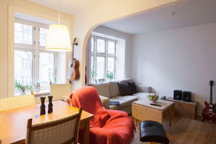 Great place in heart of Vesterbro - very nice bed