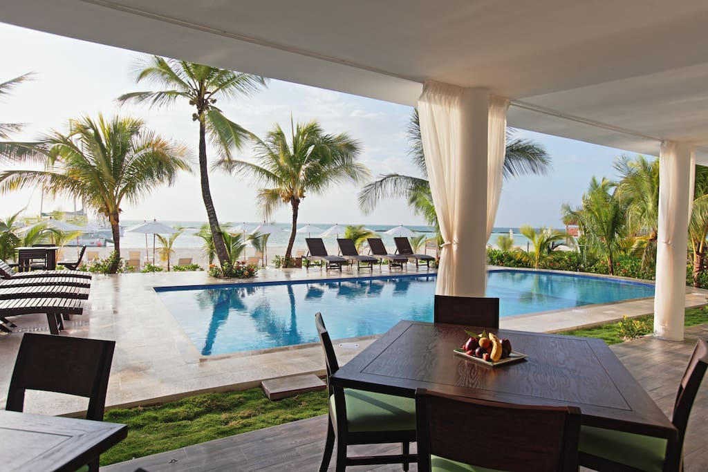 Overlooking the beach and your tropical paradise