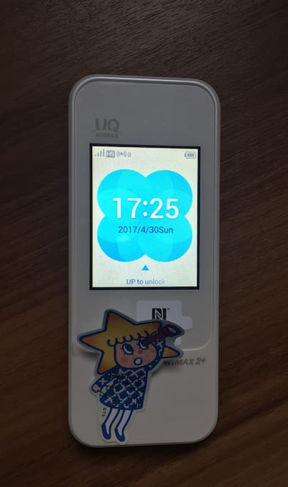 Pocket Wi-Fi:FANG_S WI-FI、Password:66668888