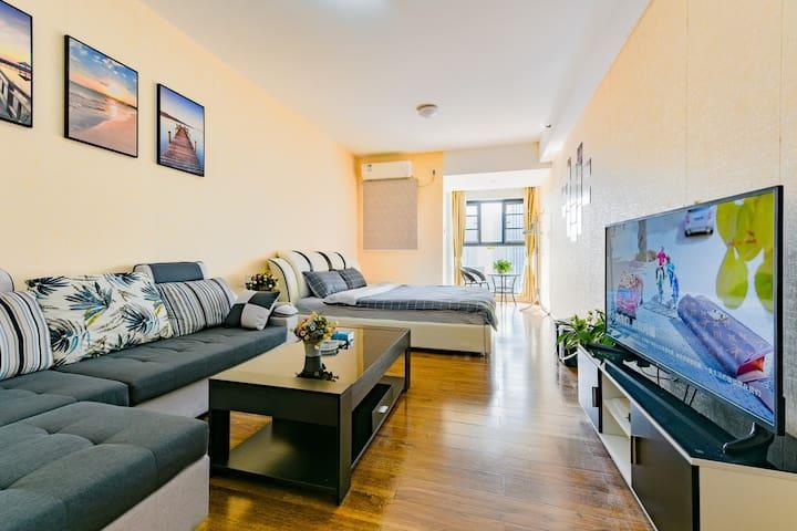 带厨房厨具/同和地铁附近舒适豪华大床房
