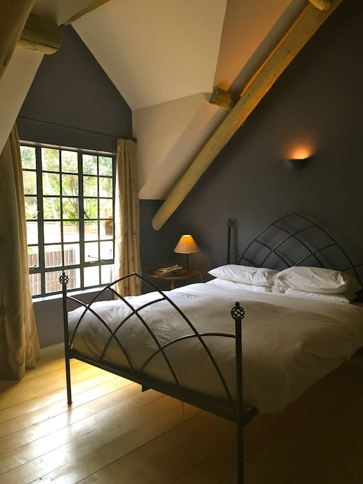 Goose down duvet and pillows ensure a great night's sleep in the well appointed double room with TV and free wifi