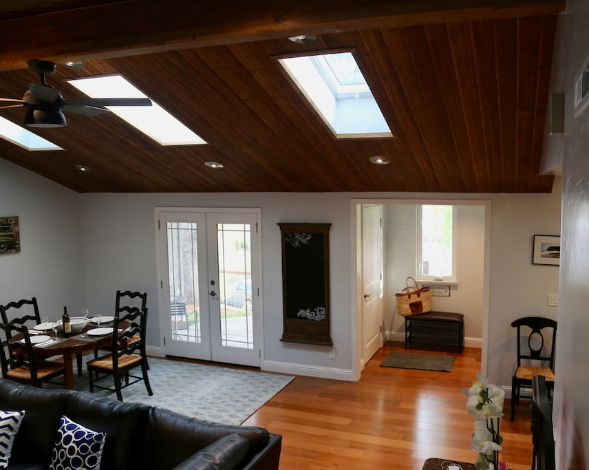skylights throughout
