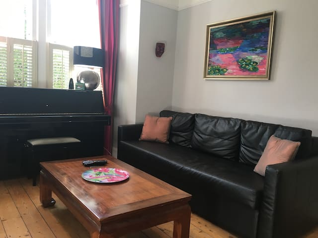 Front room showing king-size sofa bed