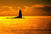 Whaleback lighthouse is only 30 minutes away