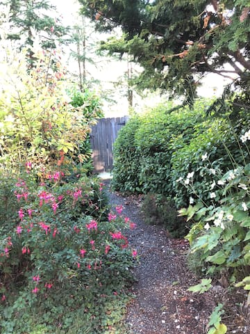 Private path from back street access