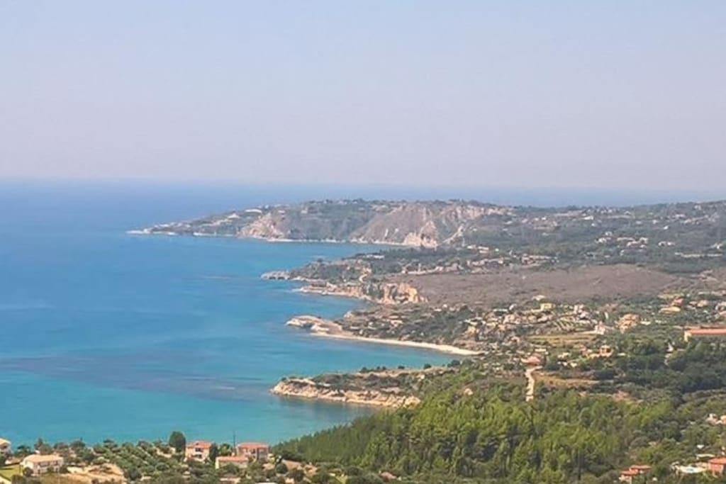 Overview of the Ionian - view from the villa