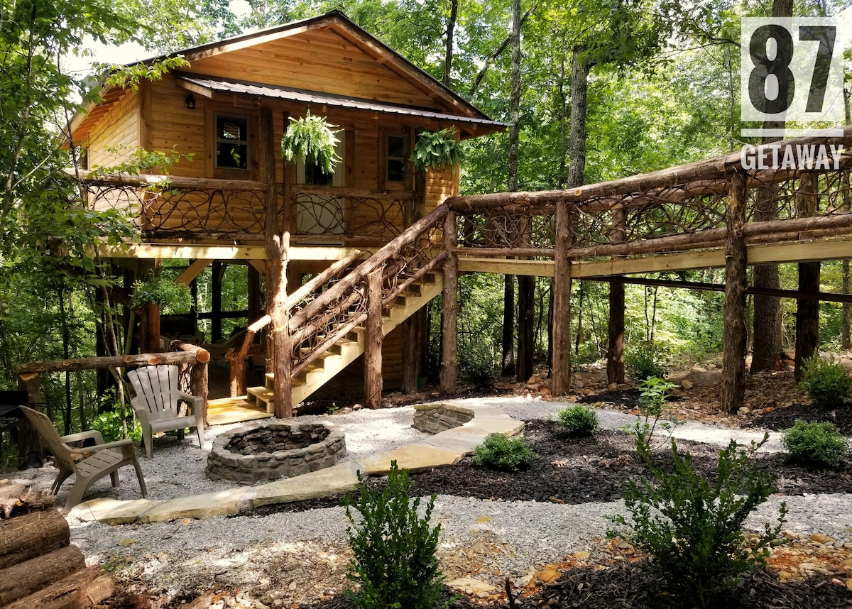 87Getaway Treehouse Escape   Treehouses For Rent In Mountain View, Arkansas,  United States