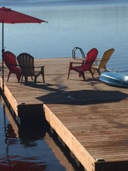 Swim off the dock