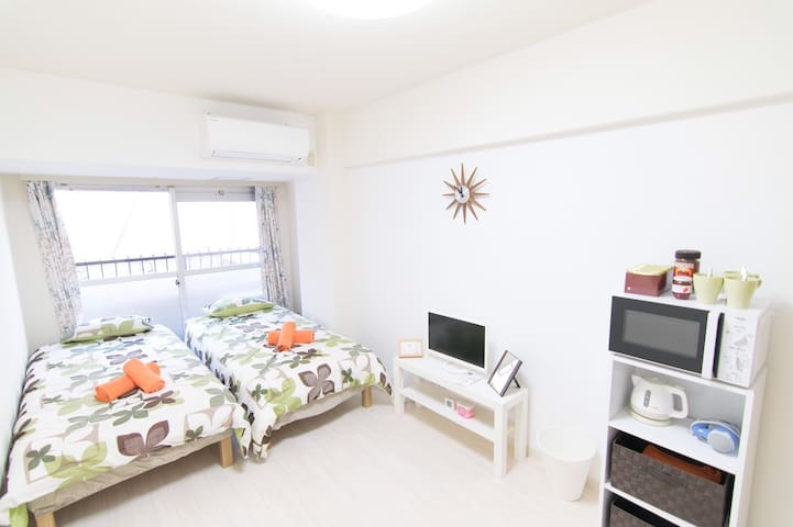 10min walk to Shinjuku stn. w/Free Wi-Fi - 新宿区 - Apartamento