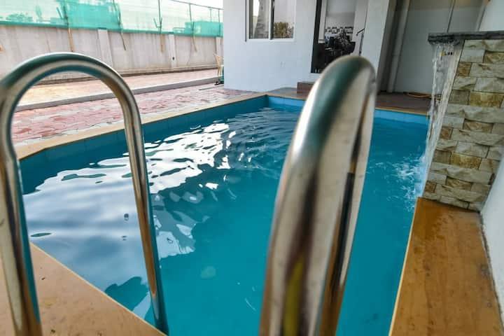 good luck villa 2bhk//pool//bbq