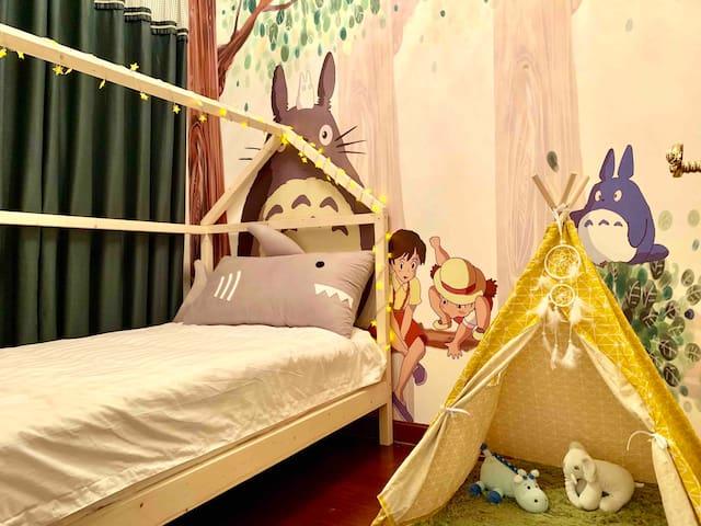 龙猫主题伴海亲子套房