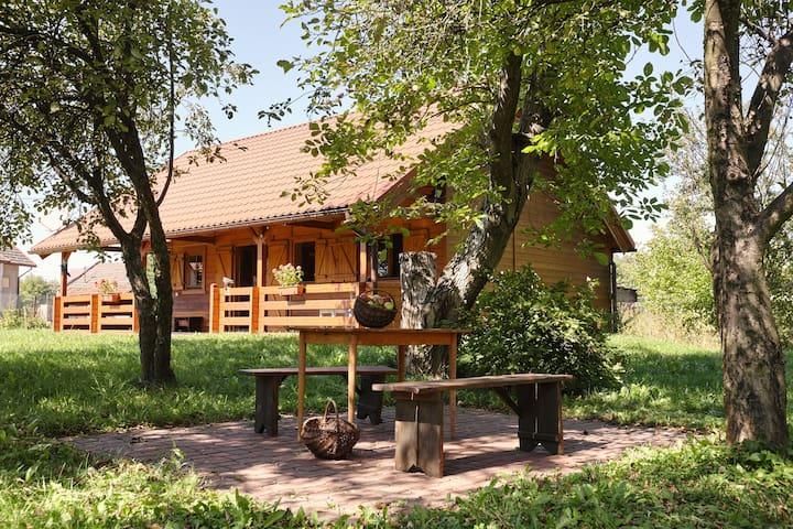 Drewniany dom z przepięknym ogrodem - Bochnia - Rumah