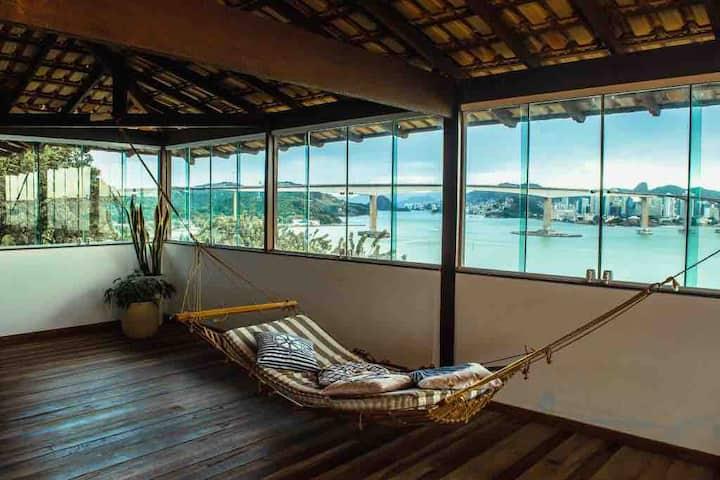Casa ViVa vista 360° de mar e natureza