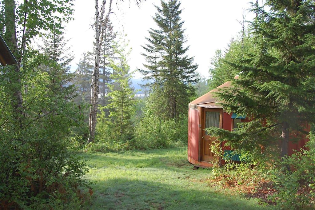 Orange yurt